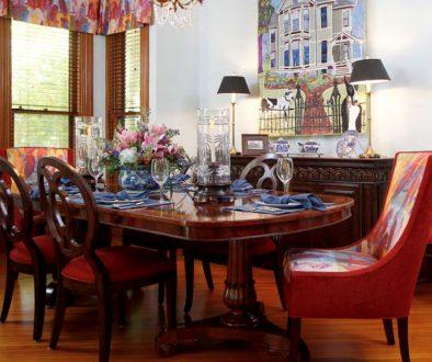 Rhonda Staley IIDA Summit Street 1880s Victorian dining room