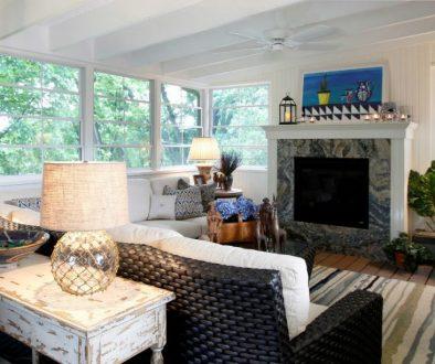 Rhonda Staley IIDA Woodridge Avenue living room fireplace